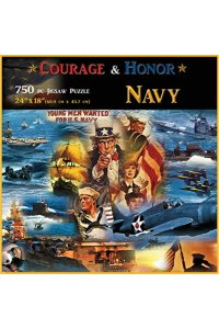 Americana Souvenirs and Gifts Courage and Honor Navy Puzzle