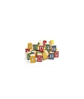 1-1/8 inch Alphabet Blocks-Bag of 36
