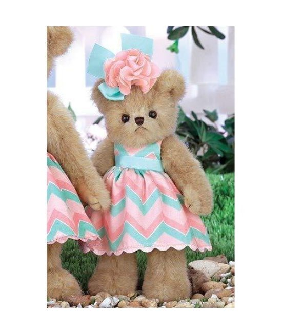 Bearington Peachy Dressed Teddy Bear Stuffed Animal Toy 10