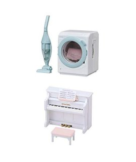 Two Different Toys – Washing Machine and Piano Sets (Japan Import)