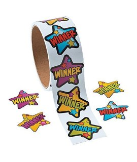 Winner Roll Star Stickers - 1 Roll