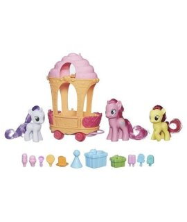 My Little Pony Cutie Mark Magic Pinkie Pie Sweetie Belle Apple Bloom Rolling Sweets Cart