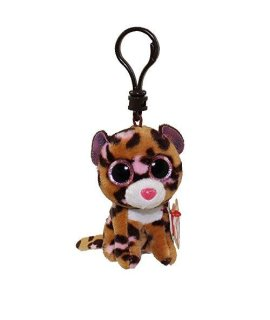 Ty Beanie Boos Plush - Patches The Leopard Clip 3 Keychain