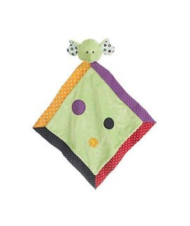 Ganz Lookie-Loos Green Dot Elephant Security Blanket