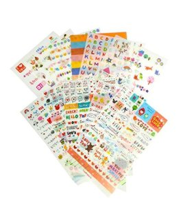 12 Daily Scrapbook Deco Craft Stickers for Girls, Transparent