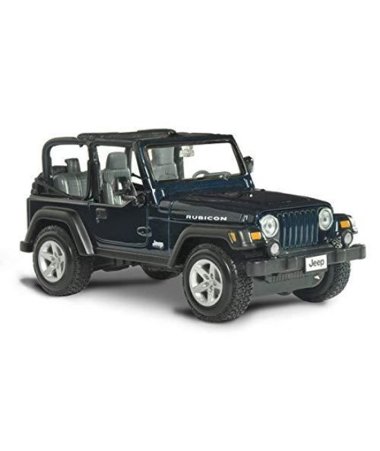 Maisto Jeep Wrangler Rubicon Diecast Vehicle (1:27 Scale), Metallic Blue
