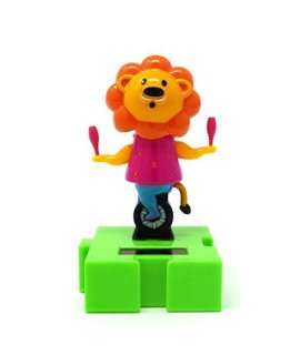 #003 Fun and Cute Lion with MaracasToys Solar Dancing Animal Circus Show