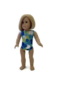 18 Doll Clothes Fits American Girl Doll Colorful Circle Print 1 piece Swimsuit