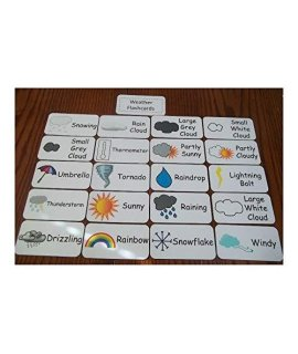 Weather Flash Cards. Preschool And Pre Kindergarten Learning Activity. 20 Card Newest!