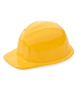 1 Dozen Yellow Construction Hats for Kids - Childrens Hard Hats - Building Supplies Toys - Construction Themed Party Favor - Building and Construction Toys - Dress Up Accesory