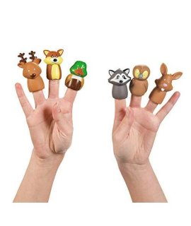 Woodland Animal Finger Puppets - 24 pc