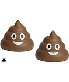 2 Poop Emojis Stress Balls - Nothing a little poo can't make better - One stress ball for each hand