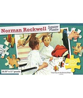 Norman Rockwell - First Trip To The Beauty Shop - 500 Piece Jigsaw Puzzle