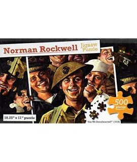 Norman Rockwell - Are We Downhearted? - 500 Piece Jigsaw Puzzle