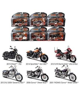 118 HARLEY-DAVIDSON CUSTOM MOTORCYCLES SERIES 34 ASSORTMENT 31360-34 BY MAISTO