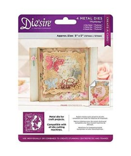 CRAFTER'S COMPANION DS-Cad-Flu Die'Sire Create-a-Card Metal Dies-Flutterby