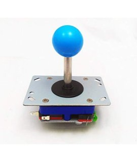 2/4/8 Way Adjustable Arcade Joystick Pc Fighting Stick Parts For Video Game Arcade Baby Blue Ball Tall By Atomic Market