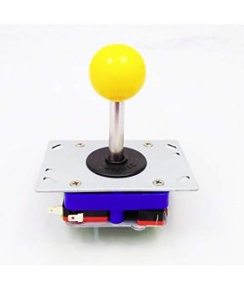 2/4/8 Way Adjustable Arcade Joystick Pc Fighting Stick Parts For Video Game Arcade Yellow Ball Tall By Atomic Market