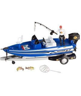13 Nitro Blue Bass Boat Fishing Adventure Play Set  8 Pieces