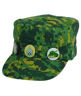 Amscan Camouflage Deluxe Fabric Hat, Party Favor, 4 Ct.