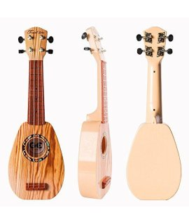 17 Inch Guitar Ukulele Toy For Kids ,Guitar Children Educational Learn Guitar Ukulele With The Picks And Strap Can Play Musical Instruments Toys (17 Inch)