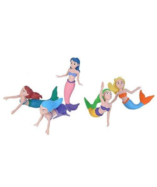 Wild Republic Mermaid Figurines Five Piece Collection Polybag, Mermaid Toys, Mermaid Doll, Gifts For Girls, Bath Toys