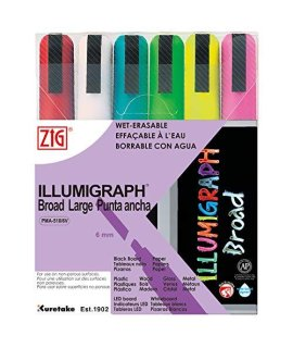 """Zig Illumigraph Broad Tip Markers"