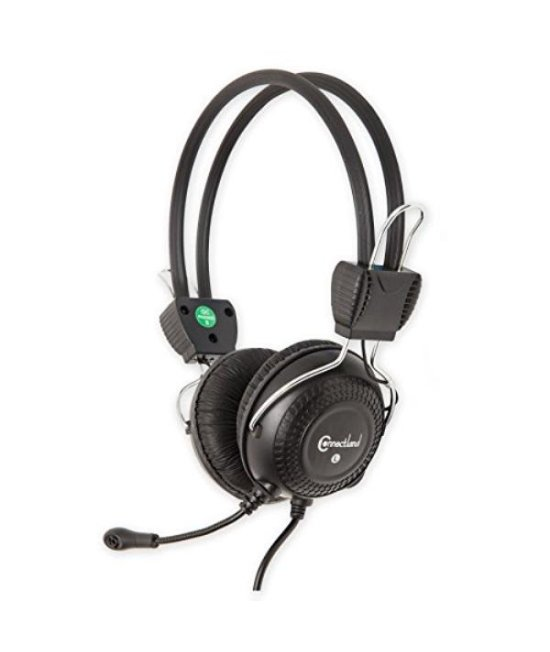 Stereo Wired PC On Ear Gaming Headset with flexible Boom Mic 3.5mm Audio Jack Plug