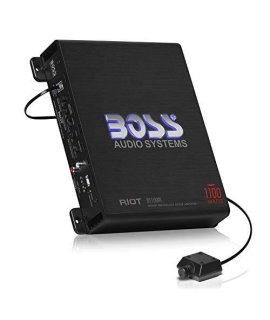 BOSS Audio Systems R1100M Monoblock car Amplifier - 1100 Watts Max Power, 2/4 Ohm Stable, class A/B, Mosfet Power Supply, Remote Subwoofer control
