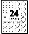 Avery Print/Write Self-Adhesive Removable Labels, 0.75 Inch Diameter, Light Blue, 1,008 per Pack (5461) (05461)