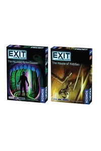 Thames & Kosmos Exit The Game Bundle of 2: Haunted Roller Coaster and House of Riddles (2 Items)